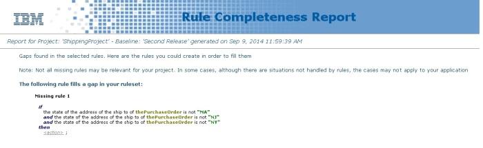 completeness report